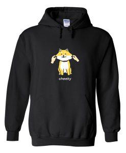 cheeky shibe hoodie