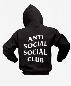Anti social social club Back hoodie