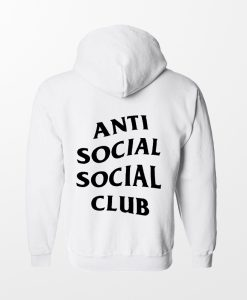 Anti social social club White Back Hoodie