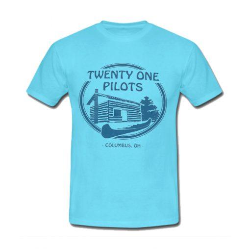 Blue camp like twenty one pilots T-shirt