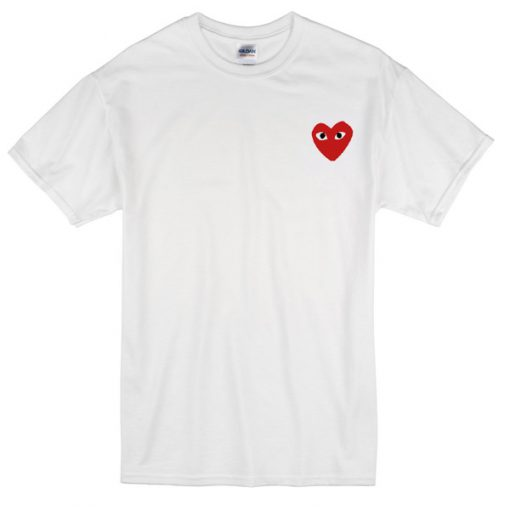 Heart with eyes logo T-shirt