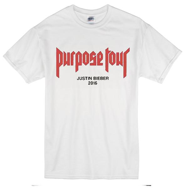 purpose tour justin bieber 2016 t shirt. Black Bedroom Furniture Sets. Home Design Ideas