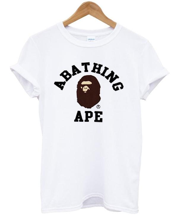 A bathing ape white t shirt for Bape t shirt sizing