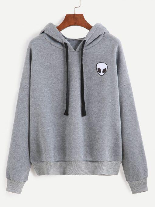 Alien grey Hoodie