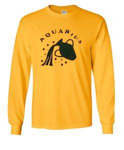 Aquarius yellow Sweatshirt