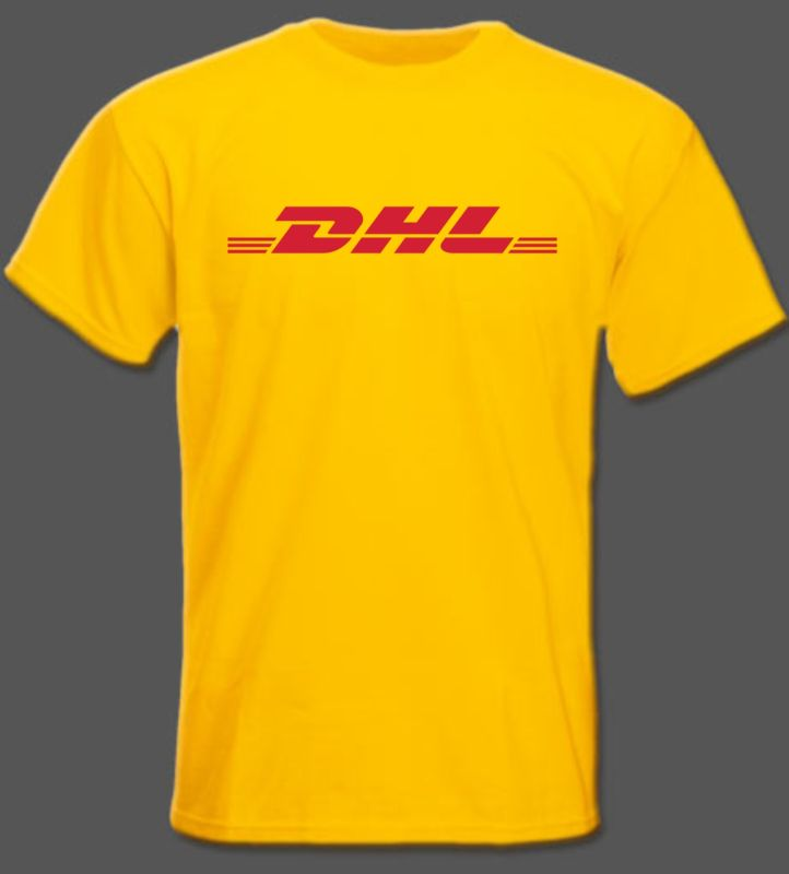 dhl yellow t shirt. Black Bedroom Furniture Sets. Home Design Ideas
