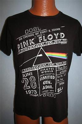 43927b6e PINK FLOYD 1973 Concert Ticket DARK SIDE OF THE MOON T-SHIRT