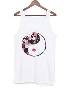 Yin yang Floral Tanktop