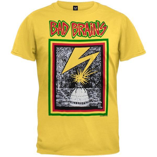bad brains shirt yellow