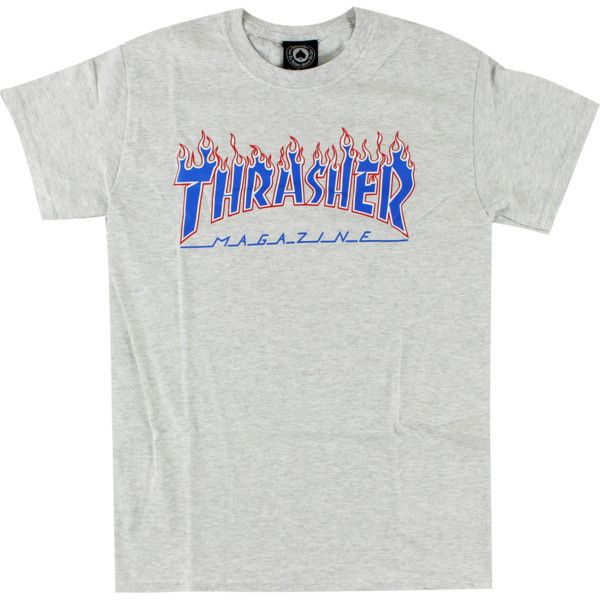 036dd027e Thrasher Magazine Patriot Flame Ash Heather T-Shirt