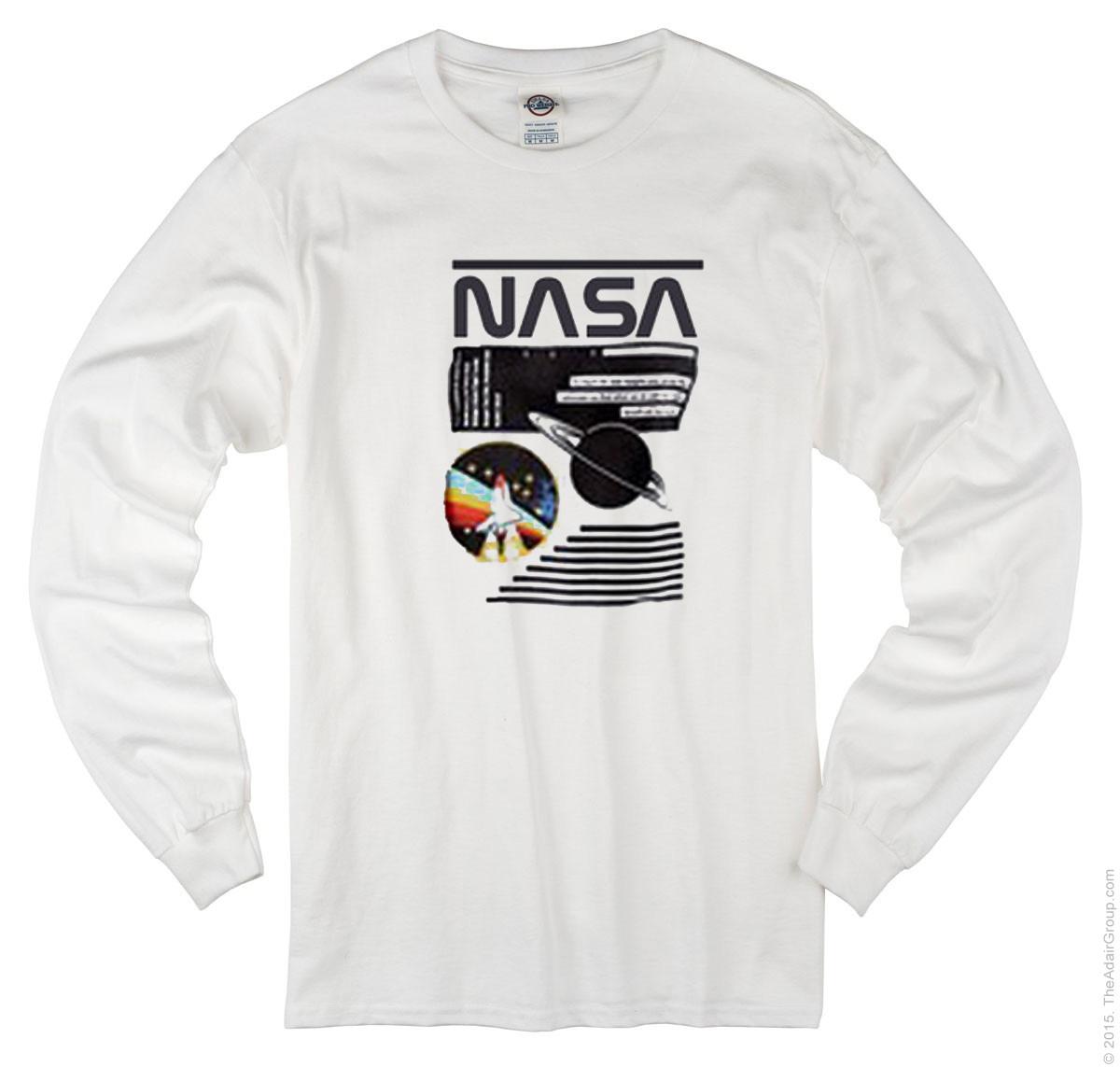 5c9d16f8edf051 Nasa Long Sleeve T-shirt