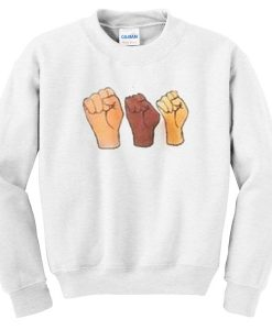 3 Black Lives Hand Sweatshirt