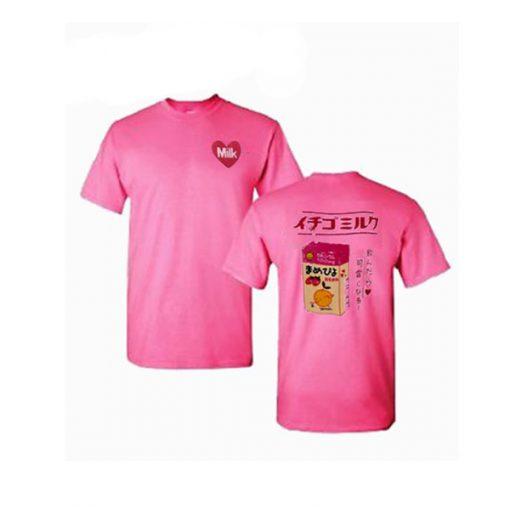 Strawberry Ichigo Milk Carton Box T-Shirt