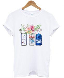 Flower Michelob Ultra Coors Light Bud Light Beer T-Shirt