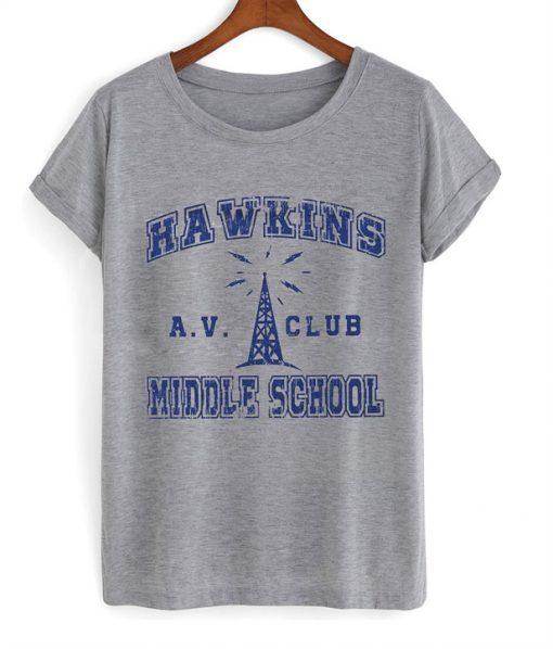 Hawkins AV CLUB Middle School T-Shirt