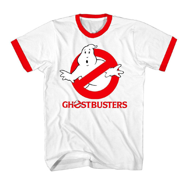 Ghostbusters Logo red ringer T-Shirt