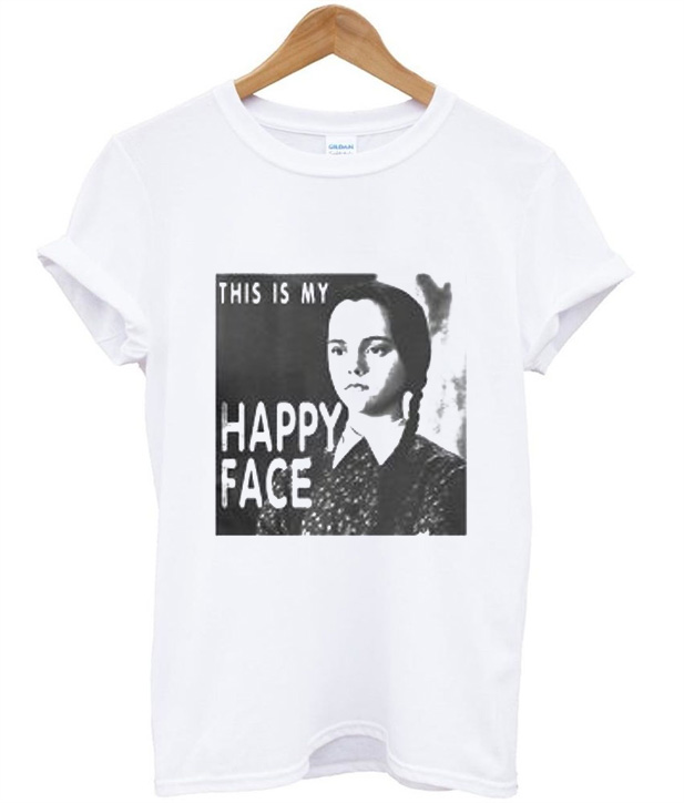 Wednesday Addams This Is My Happy Face T-Shirt