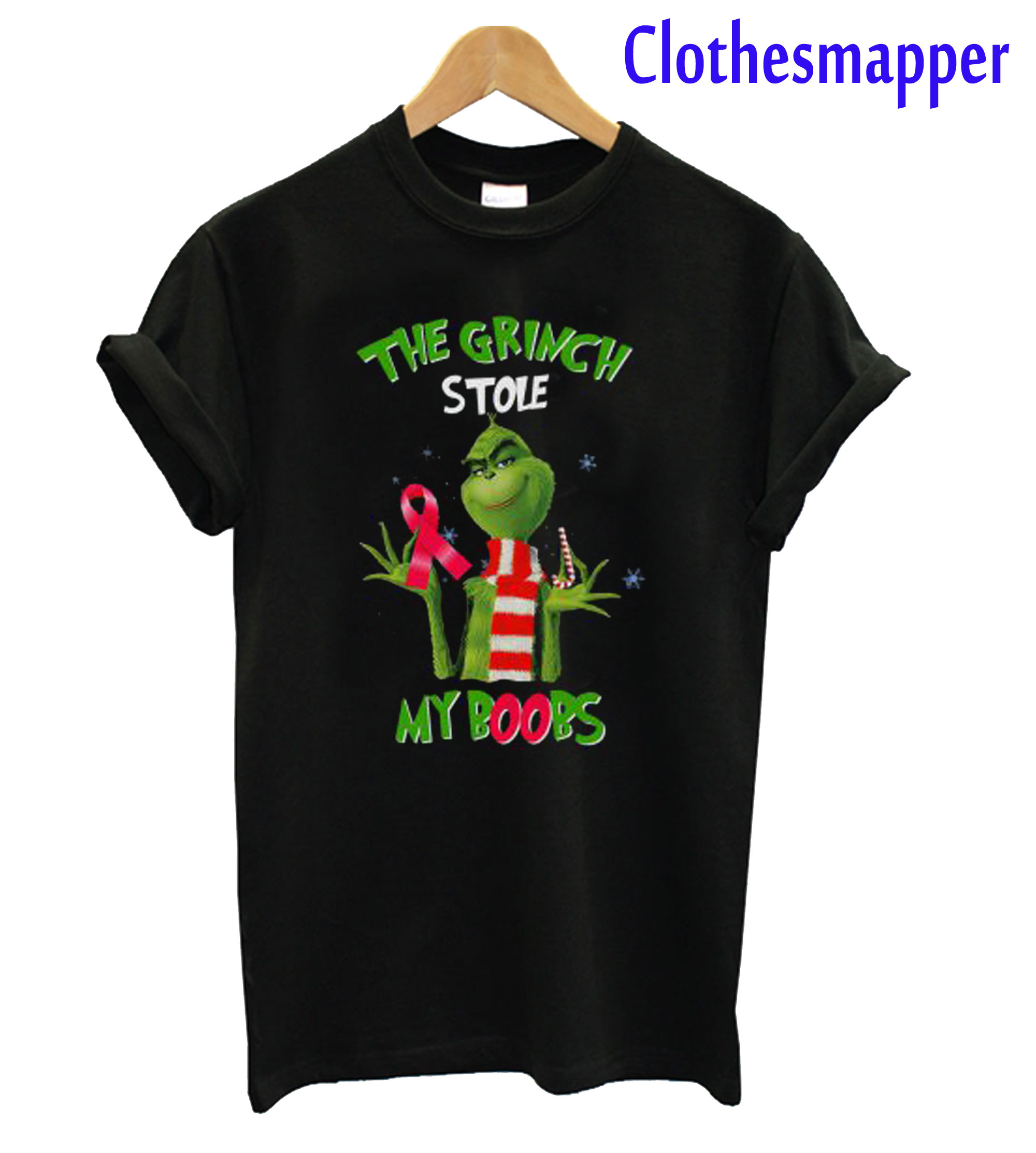 The Grinch stole my boobs T-Shirt