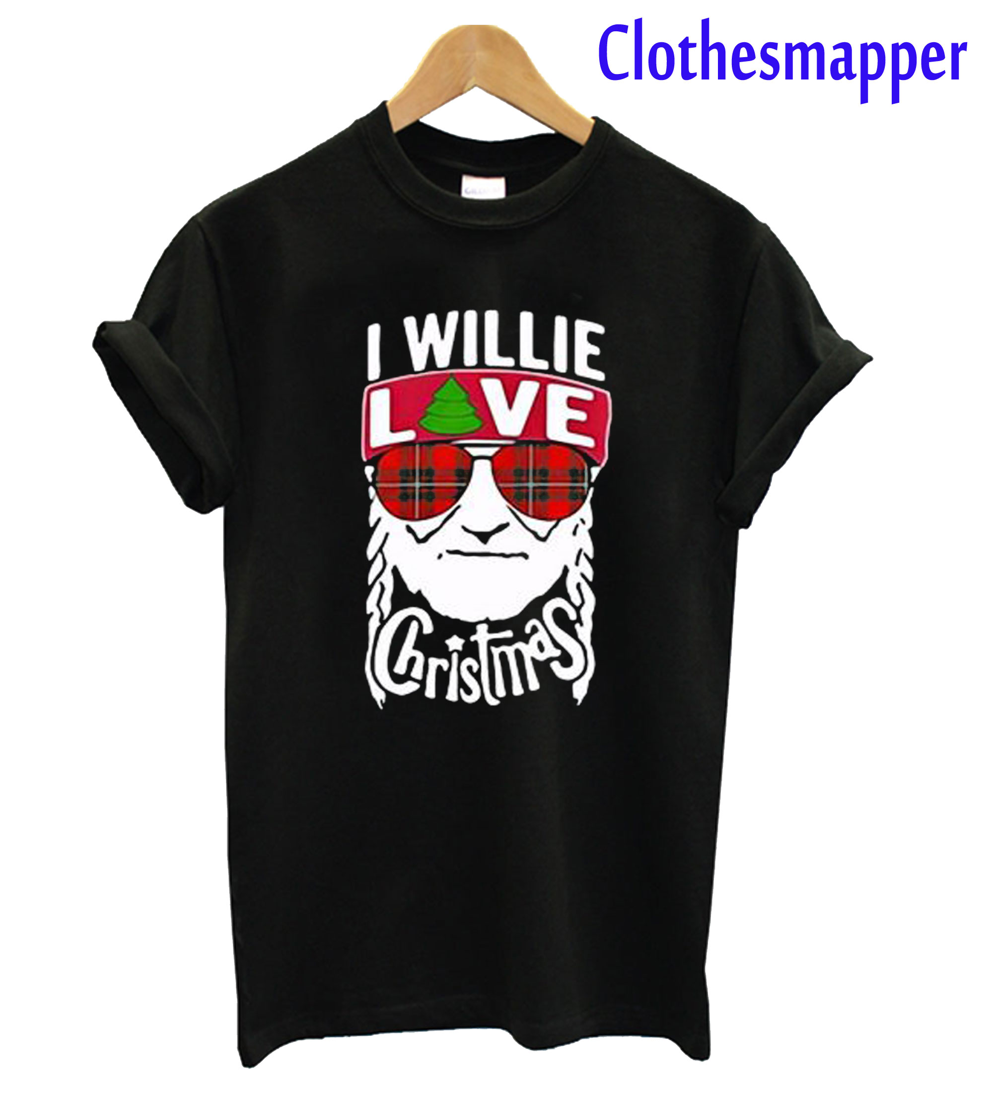 I Willie Love Christmas Willie Nelson T-Shirt